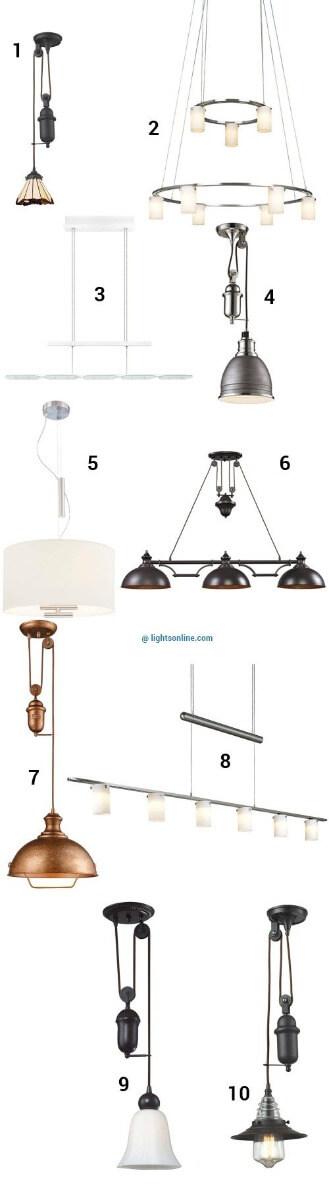 Retractable Pendant Lights To Customize Your Look