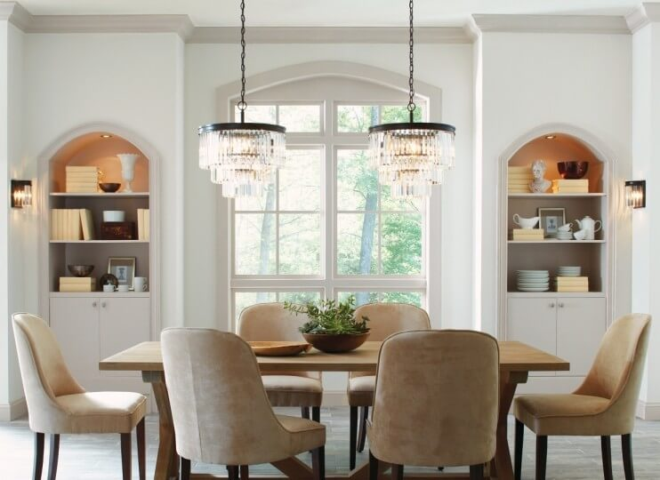 Two Chandeliers   Set The Tone In Your Dining Room   LightsOnline.com Blog