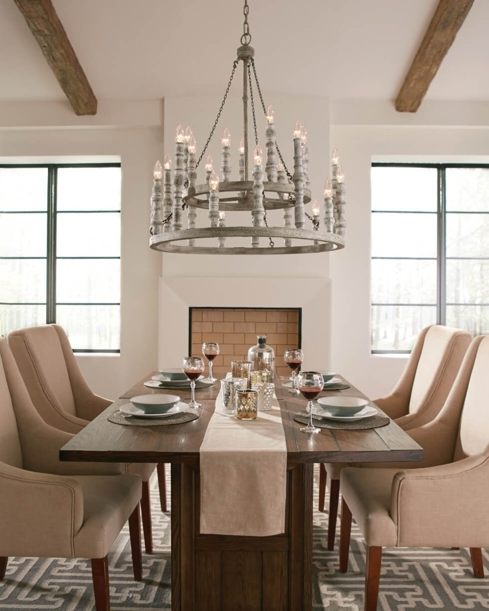 Feiss Norridge chandelier - French Country Style Inspirations - LightsOnline.com