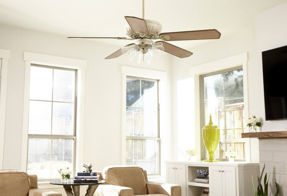 Quorum Chateaux ceiling fan - French Country Style Inspirations - LightsOnline.com