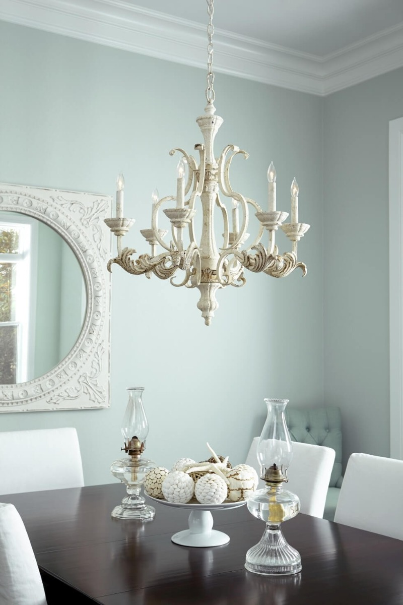 Quorum Florence chandelier - French Country Style Inspirations - LightsOnline.com