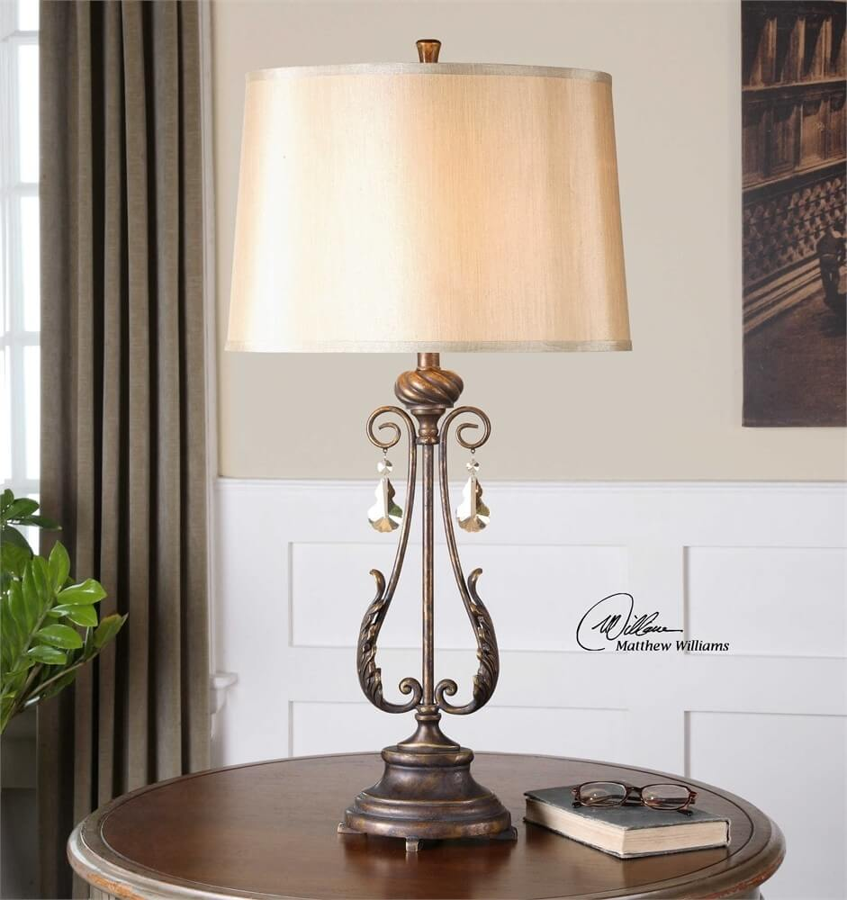 Uttermost Cassia table lamp - French Country Style Inspirations - LightsOnline.com