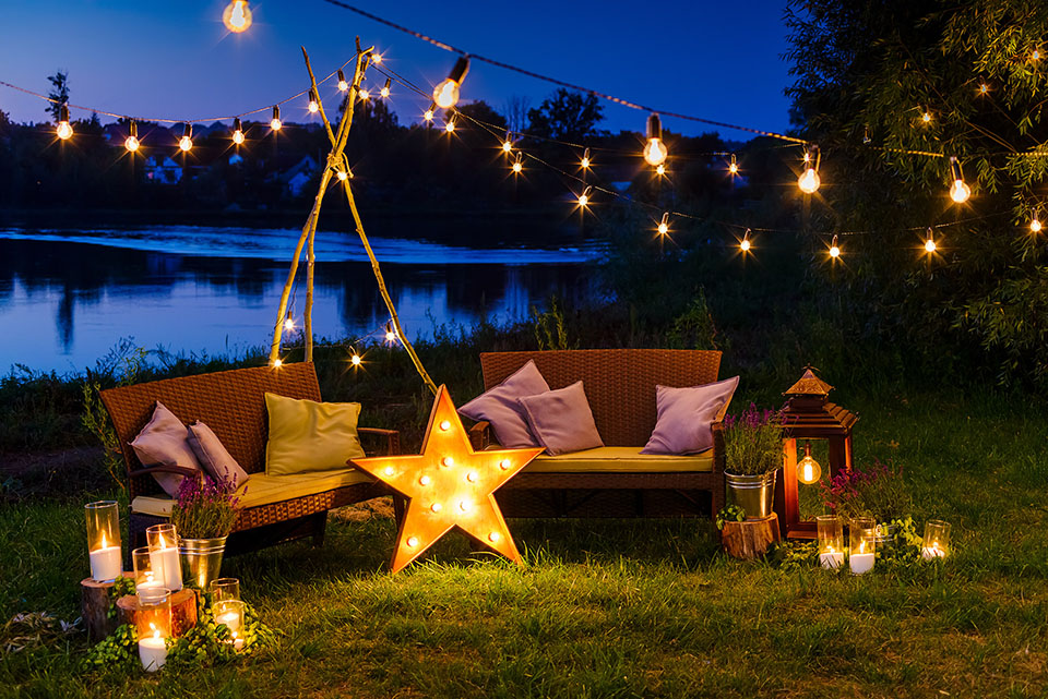 Outdoor lighting for summer parties - LightsOnline.com