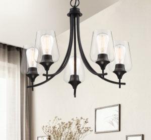 Black chandeliers - LightsOnline.com