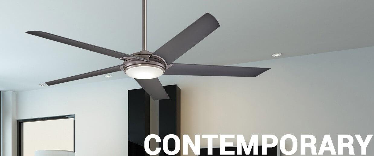 Contemporary ceiling fans - LightsOnline.com