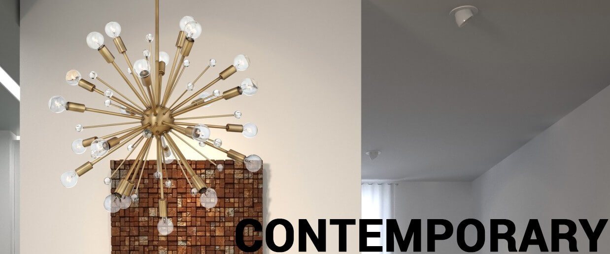 Contemporary chandeliers - LightsOnline.com