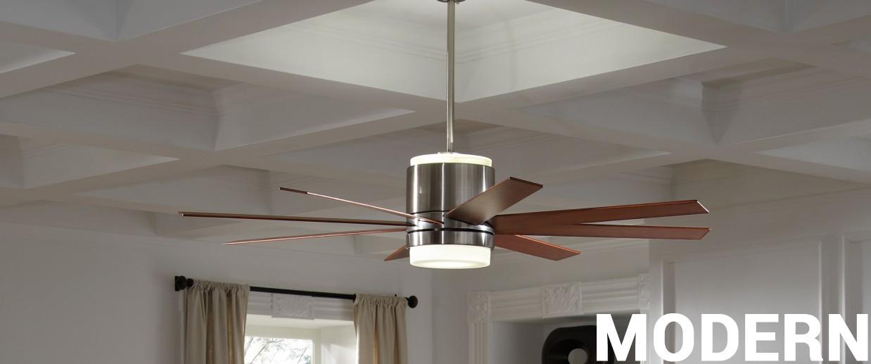 Modern ceiling fans - LightsOnline.com