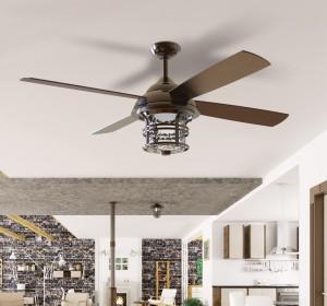 Rustic Home Ceiling Fans - LightsOnline.com
