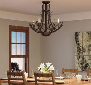 Rustic Home Chandeliers - LightsOnline.com