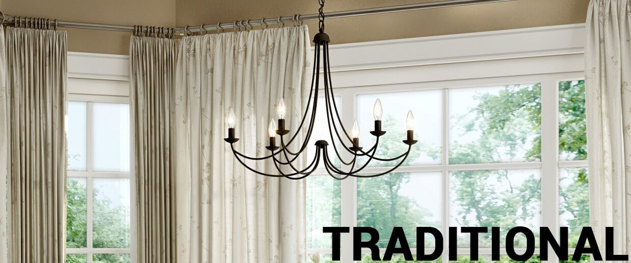 Traditional chandeliers - LightsOnline.com