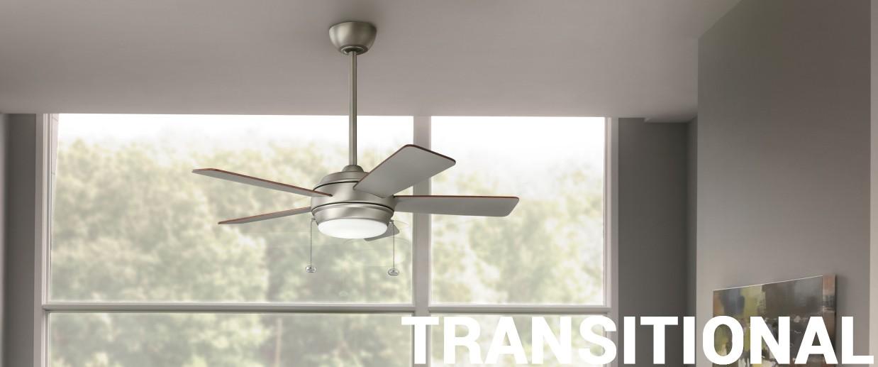 Transitional ceiling fans - LightsOnline.com