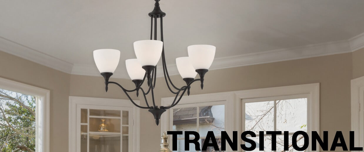 Transitional chandeliers - LightsOnline.com