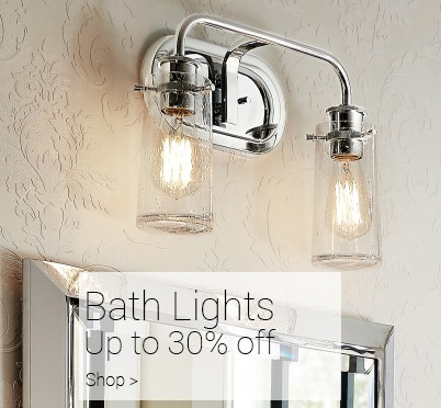 Shop bath lights at LightsOnline.com
