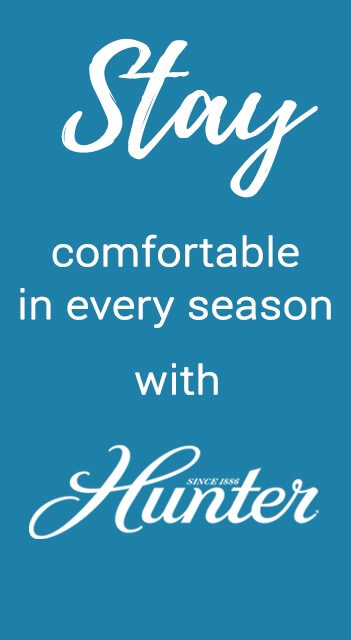Stay comfortable in every season with Hunter ceiling fans