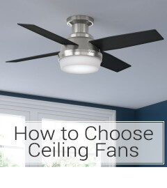 Learn how to choose a ceiling fan at LightsOnline.com
