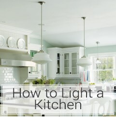 Learn how to light a kitchen at LightsOnline.com