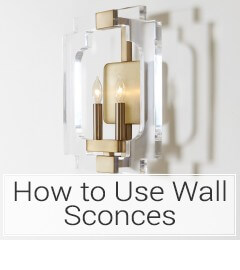 Learn how to use wall sconces at LightsOnline.com