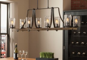 Rustic Kitchen Lighting