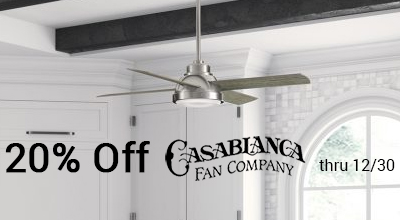 20% off Casablanca ceiling fans