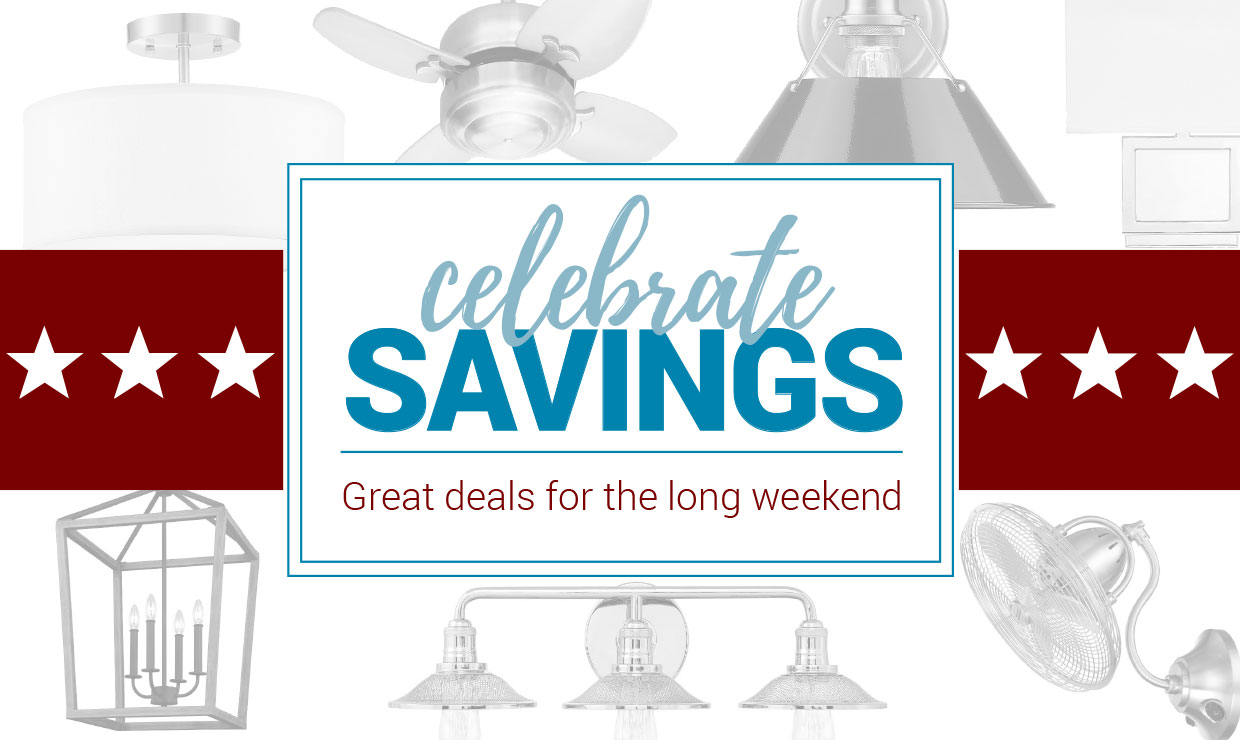 Great deals for the long weekend